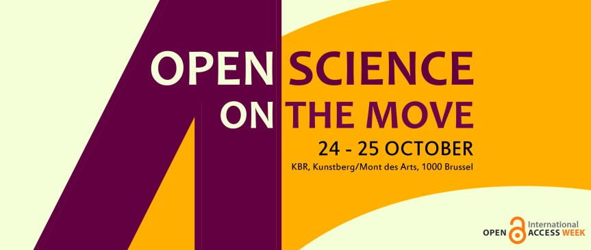 Join the Belgian Open Access week event: 'Open Science on the move' 24-25 October 2016