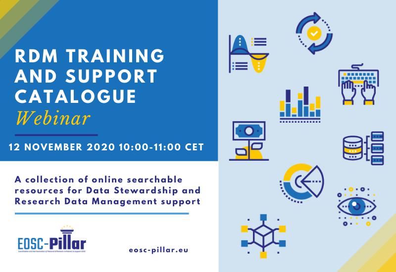 WEBINAR: EOSC-Pillar RDM Training and SupportCatalogue