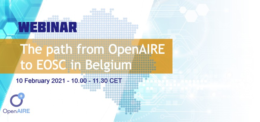 Webinar – The path from OpenAIRE to EOSC in Belgium